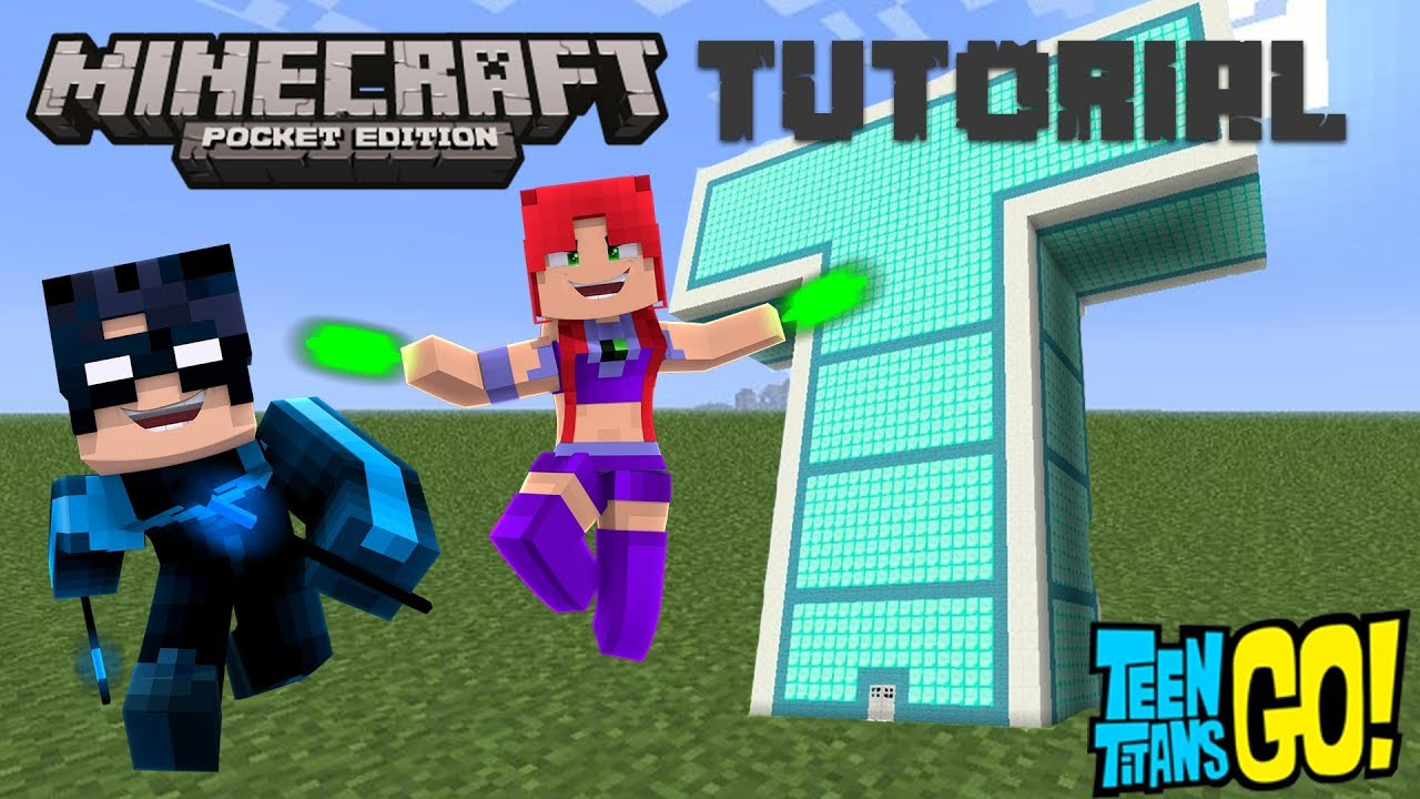 MCPE – HOW TO BUILD THE TEEN TITANS TOWER IN MINECRAFT POCKET EDITION! MCPE Tutorial