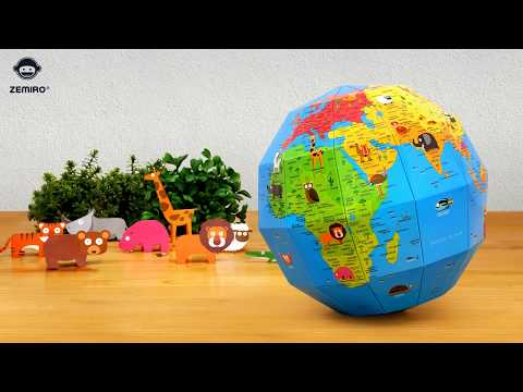 ZEMIRO GLOBE - 재미로 지구본 / DIY GLOBE / PAPER GLOBE