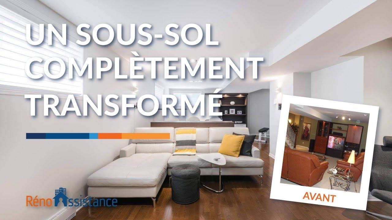 Sous-sol moderne Avant Après | Visite rénovation à Laval