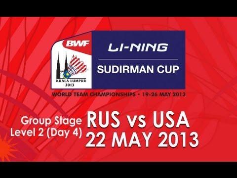 Group Stage (Level 2) - MS - Anatoliy Yartsev vs Howard Shu - 2013 Sudirman Cup
