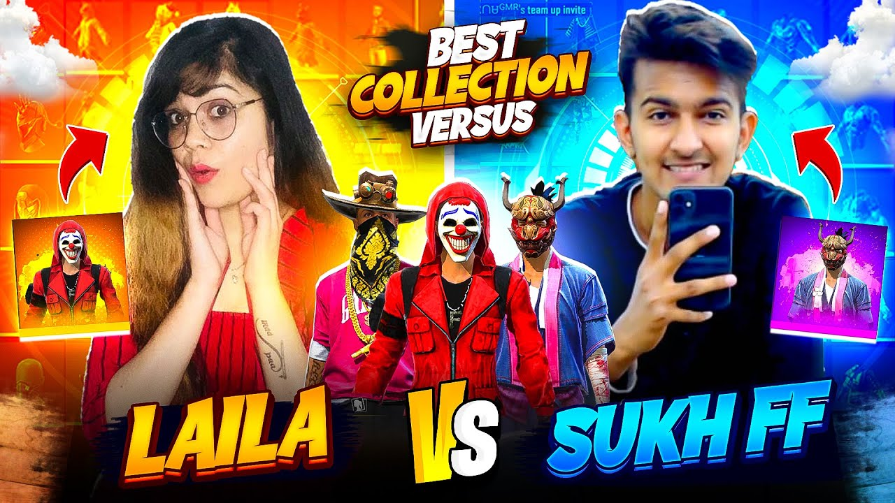 Free Fire Most Rare Collection || Collection Versus With Sukh FF | Garena Free Fire || Bindass Laila