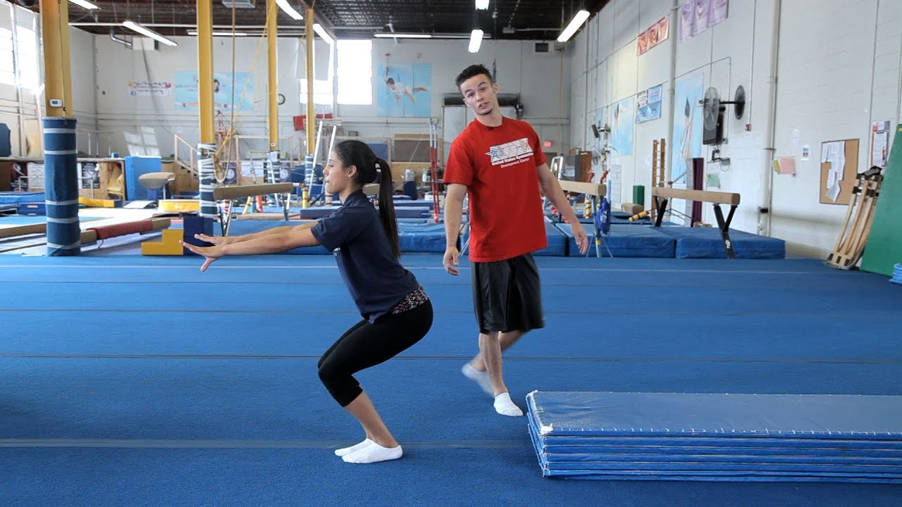 How To Do A Standing Back Tuck Gymnastics Lessons Doovi