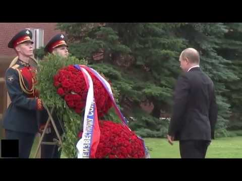 "Putin honoring WW2 fallen soldiers - ""I am not made of sugar"""