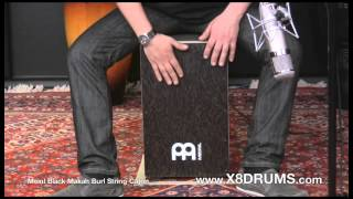 Meinl Black Makah Burl String Cajon Demonstration - X8 Drums