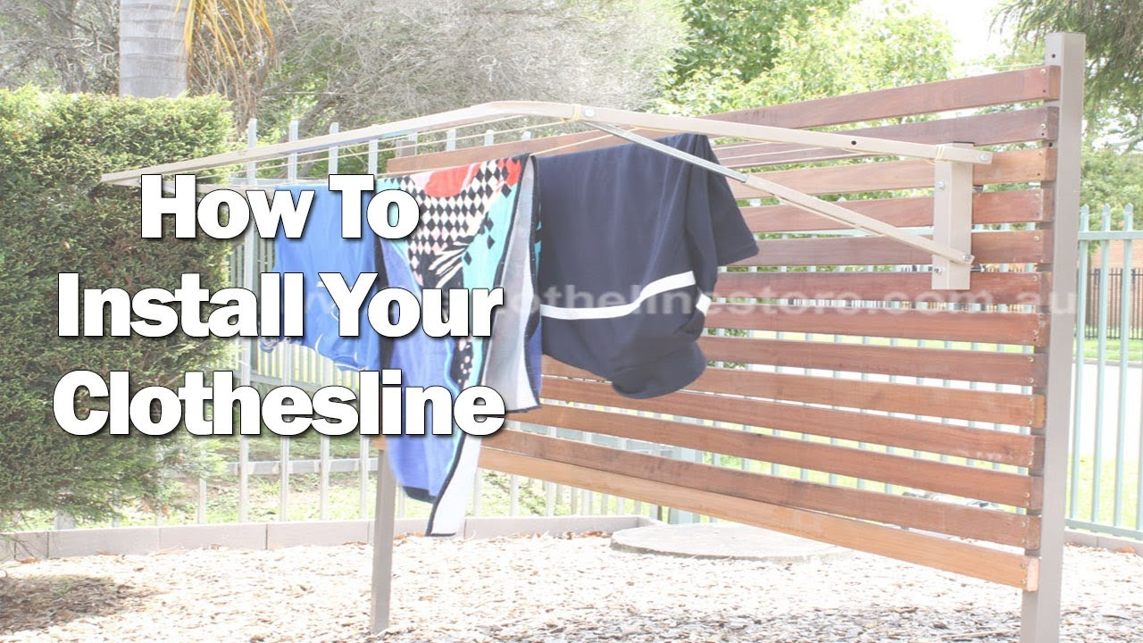 How To Install A Ground Mount Folding Clothes Line Youtube