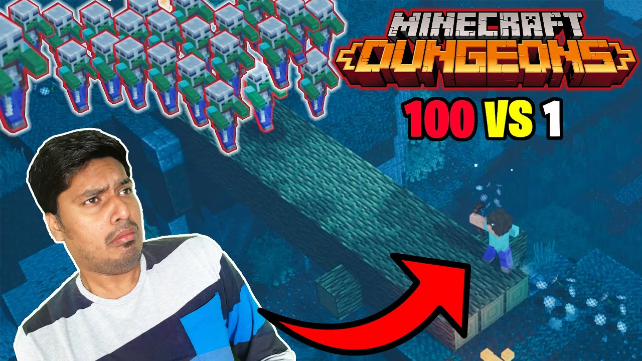 100 Vindicator's  Vs 1 Thunder boi  Epic Battle #1 | minecraft hindi