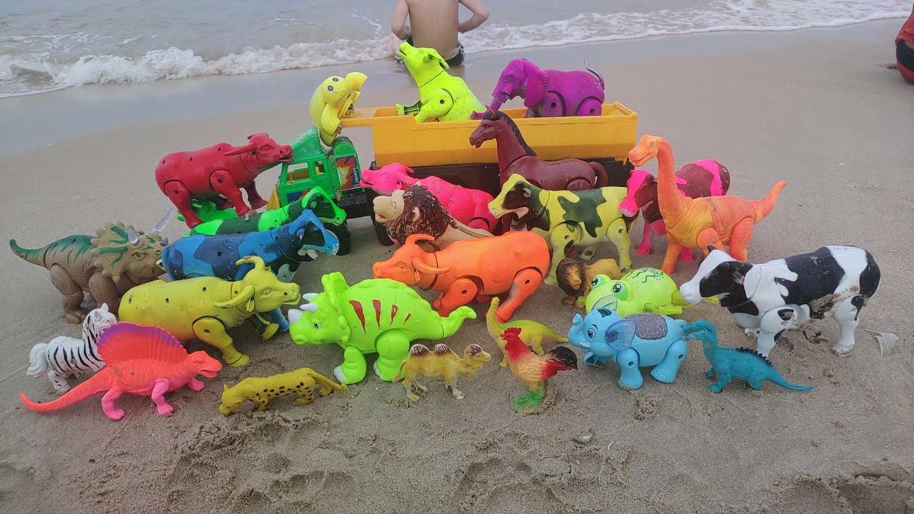 นั่งเล่นทะเลชิวๆกับ วัว ควาย ช้าง ม้า ไดโนเสาร์ สิงโต เต่า กบ cow buffalo turtle frog elephant lion