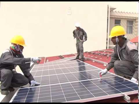 Solar Power installation at residence of Otara Gunawardena, CEO - ODEL