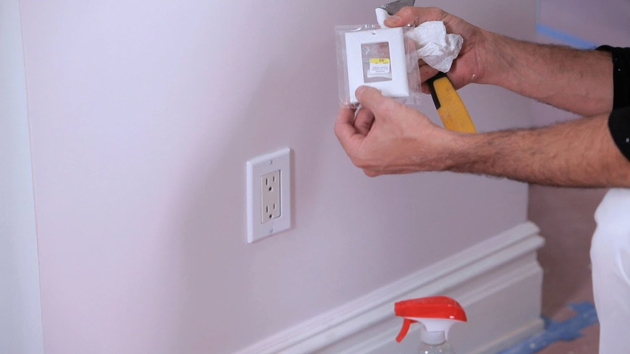 How To Remove Paint Of Electrical Sockets