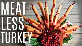MEATLESS TURKEY | made with skewered vegan hot dogs & CARROT Dog recipe