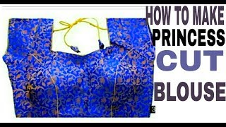 How to make princess cut blouse