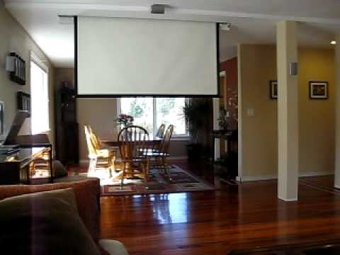 Retractable Projector And Screen   YouTube