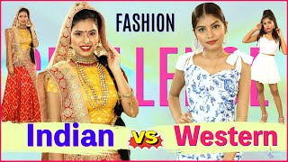 Fashion DARE Challenge - INDIAN vs WESTERN LOOK | Episode 6 | DIYQueen