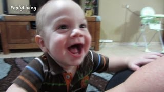 Baby Climbing Chairs 8 Months Old! - August 7, 2013 - Foolyliving Vlog