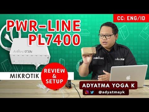 PWR-LINE PL7400 MIKROTIK - REVIEW DAN SETUP [ENG SUB]