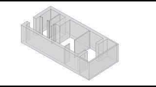 Урок 4 Трехмерный план квартиры в SketchUp.
