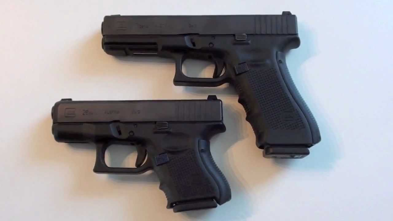 Glock 26 Gen 4 vs Glock 17 Gen 4 - YouTube