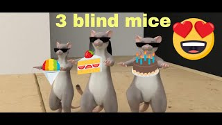 3 blind mice song | Three blind mice with lyrics in english