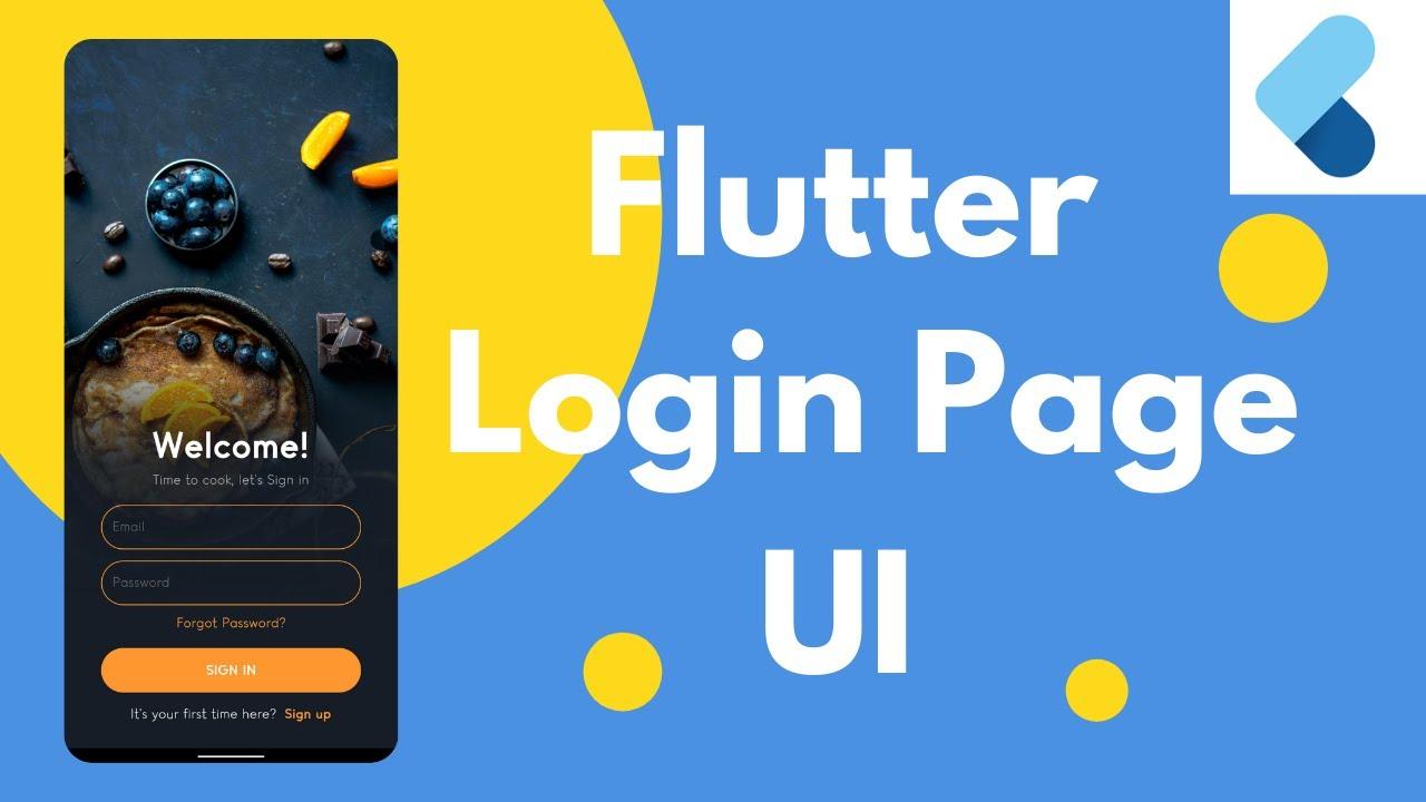 Flutter Login Page UI - Speed Code Tutorial | Code With Guru