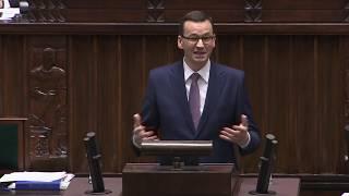 Mateusz Morawiecki przemówienie nad wotum ufności dla rządu. 12 grudnia 2018