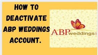 How to deactivate ABP Weddings profile screenshot 3