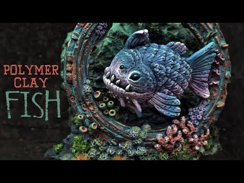 How I Make This Underwater Fish Sculpture Using Polymer Clay