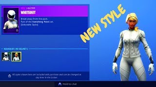 'NOUVEAU' WHITEOUT - OVERTAKER NO HELMET SKINS - Fortnite Item Shop (Fortnite Battle Royale).