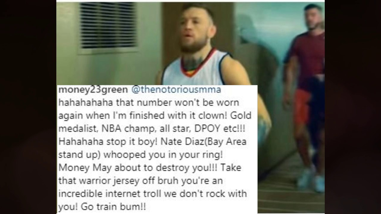 buy online 387dd 64968 Draymond Green Tells Conor Mcgregor to take off his jersey Conor Responds