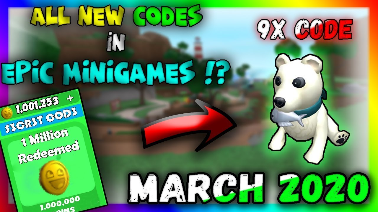 All New Codes In Epic Minigames 2020 Roblox Youtube