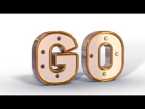 Gold Text -Texto somente com ferramentas 3D.