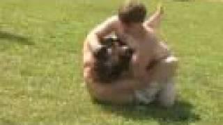 Great Backyard UFC Fight w/ Judo Throw