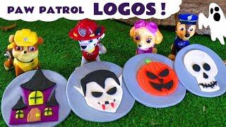 Paw Patrol Play Doh Stop Motion Spooky Halloween Logos with Candy Disney Cars Toys & Peppa Pig TT4U