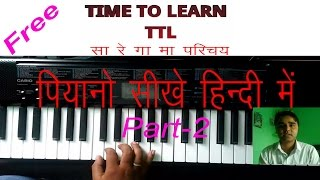 Sa re ga ma Intro for piano beginners in hindi #2 : Teach Yourself Piano