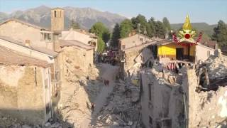 Terremoto Video Drone su Amatrice - News da Rieti Oggi