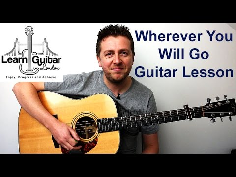 Wherever You Will Go - Acoustic Guitar Lesson - The Calling - Drue James