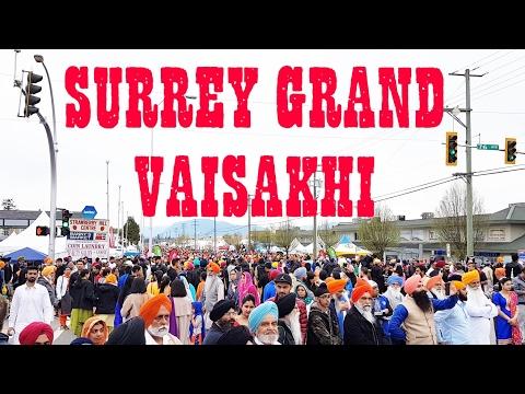 SURREY, British Columbia GRAND VAISAKHI CELEBRATIONS 22/04/2017.