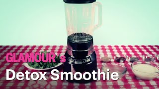 detox from the holidays with this tasty chocolate chip green smoothie glamour s treat yourself