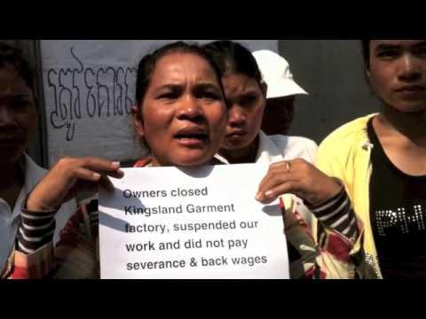 Cambodian Garment Workers seek support from Walmart, H&M shoppers