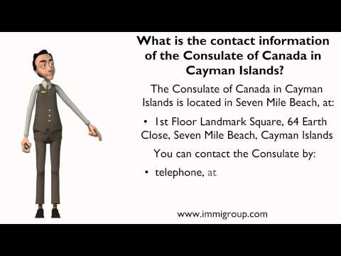 What is the contact information of the Consulate of Canada in Cayman Islands?