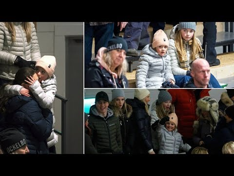 Cousin Vera takes care of Princess Estelle during hockey game