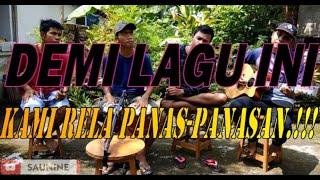 Download Mp3 Terkesima Cover Saunine Dangdut Akustik   Rela Panas-panasan Demi Lagu Ini