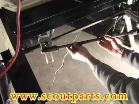 how to install the steering drag link into a scout 80 and 800
