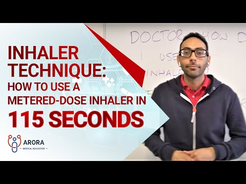Inhaler Technique: Advise how to use a metered-dose inhaler in 115 seconds
