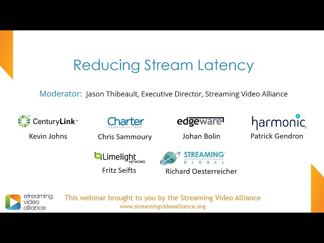 Reducing Stream Latency