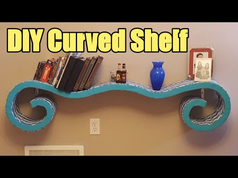 How to Build a Curved Shelf with NO Bending of wood!!