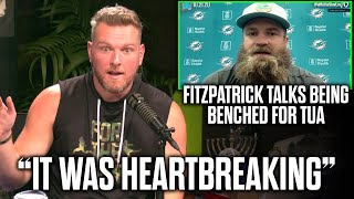 Pat McAfee Reacts To Ryan Fitzpatrick's Emotional Response To Losing His Starting Spot