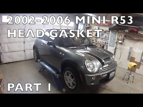 How to Replace MINI Cooper Cylinder HeadGasket 20022006 R53 Part 1