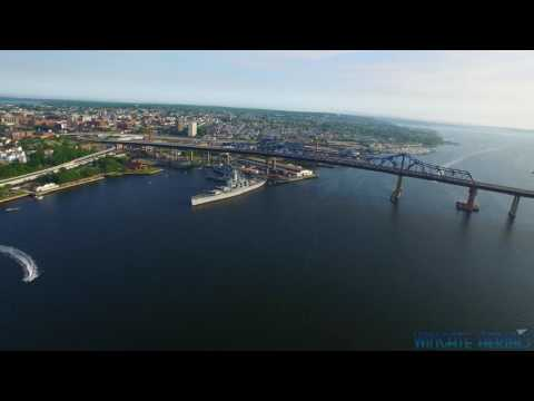 Battleship Cove, Fall River MA in 4K Drone Footage
