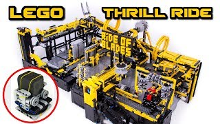 Lego Technic Theme Park Thrill Ride -- With GOPRO Ride -- 4K
