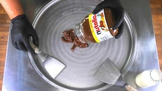 nutella Ice Cream Rolls - how to make nutella to Chocolate Ice Cream - mukbang recipe | Food ASMR 먹방